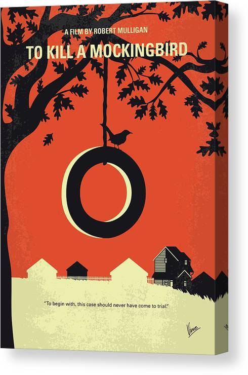 To Canvas Print featuring the digital art No844 My To Kill A Mockingbird Minimal Movie Poster by Chungkong Art