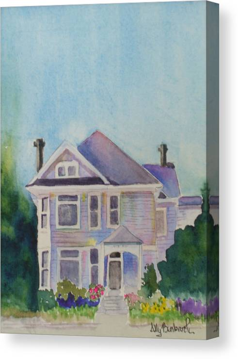 Victorian Canvas Print featuring the painting Park Blvd Victorian by Ally Benbrook