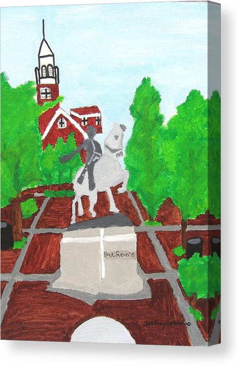Paul Revere Canvas Print featuring the painting Paul Revere by Jeff Caturano