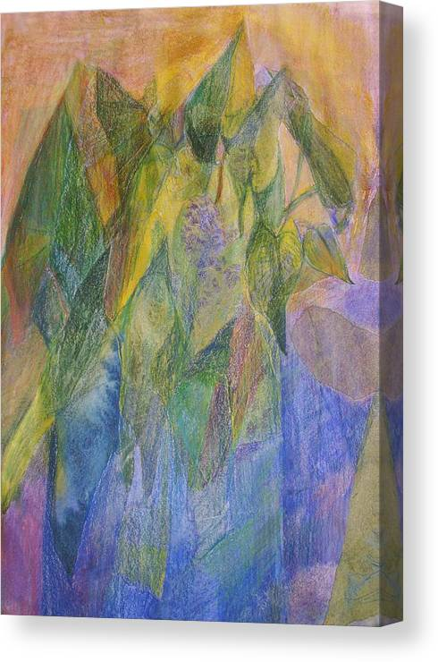 Floral Canvas Print featuring the mixed media Philodendron Phun by Jan Cline-Zimmerman