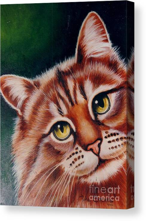Ginger Canvas Print featuring the painting Pick Me by Val Stokes