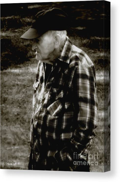 Farmer Canvas Print featuring the photograph Remembering Hard Times by RC DeWinter