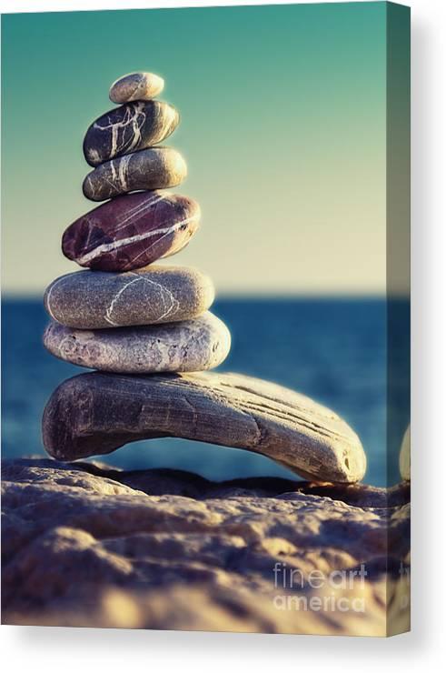 Arrangement Canvas Print featuring the photograph Rock Energy by Stelios Kleanthous
