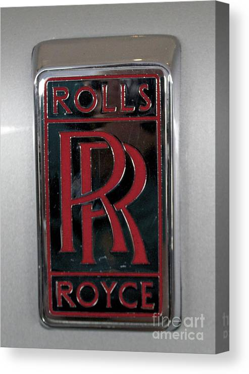 Rolls Royce Emblem Canvas Print featuring the photograph Rolls Royce by Pamela Walrath