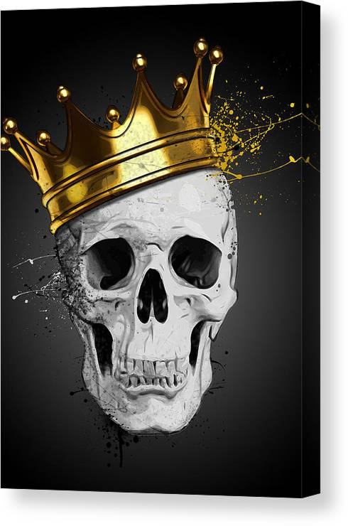 Royal Skull Canvas Print