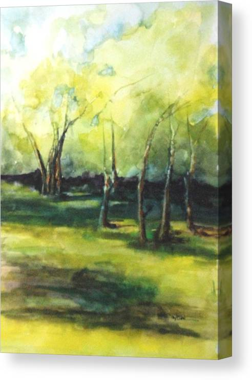 Trees Canvas Print featuring the painting September At Mac O Cheek by Donna Pierce-Clark