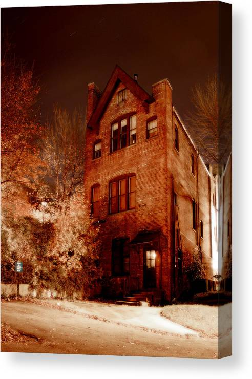 Huntington Canvas Print featuring the photograph Sewing School by Michael Simeone