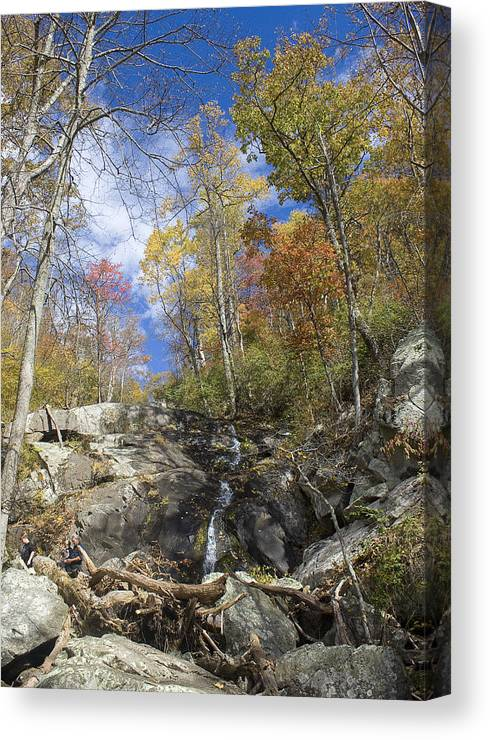 Waterfall Canvas Print featuring the photograph Small Fall Waterfall by Alan Raasch