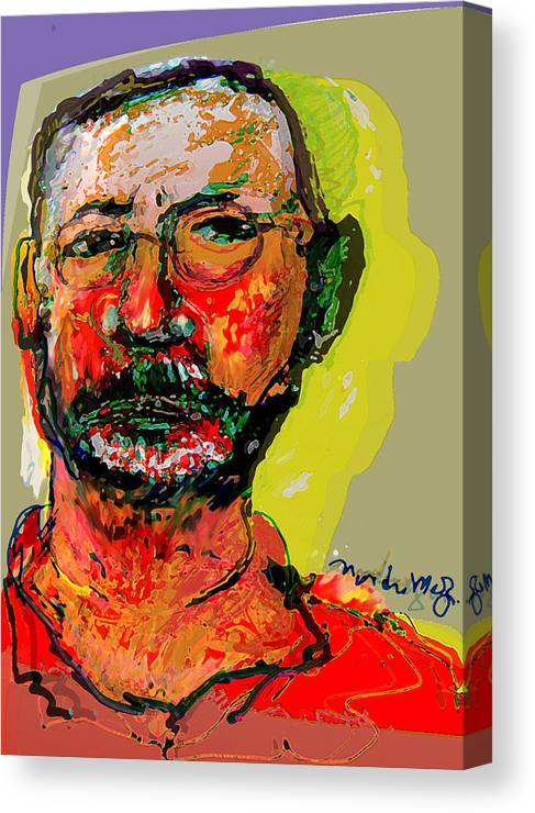 Self Portraits Canvas Print featuring the painting Sp3808 by Noredin Morgan