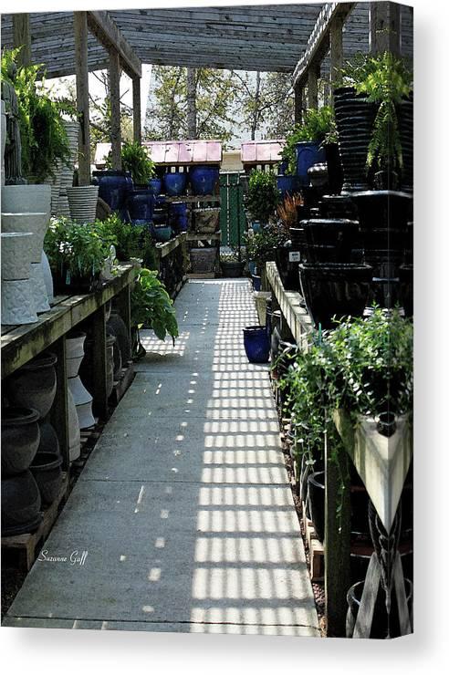 Garden Canvas Print featuring the photograph Spring Garden Center by Suzanne Gaff