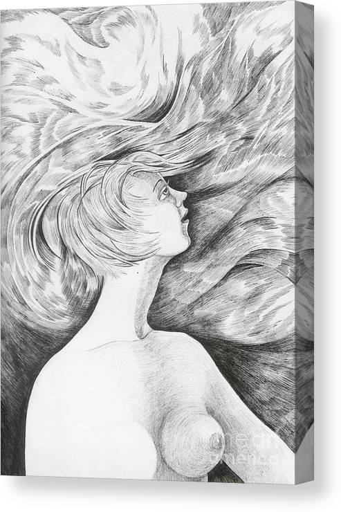 Fantasy Canvas Print featuring the drawing Spring I by Anna Duyunova