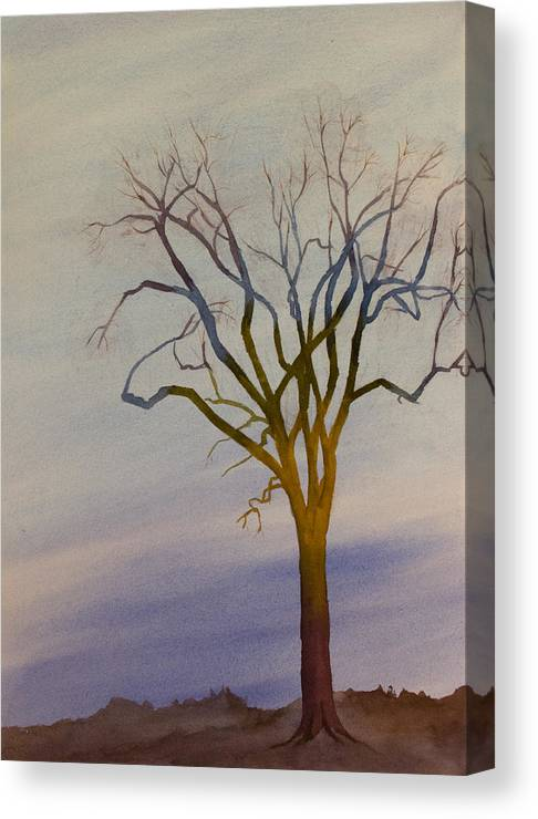 Surreal Canvas Print featuring the painting Surreal Tree No. 1 by Debbie Homewood