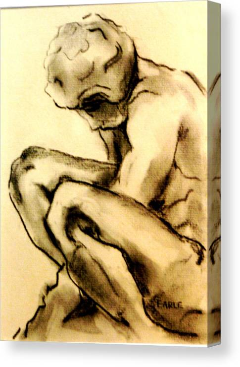 Adolescent Canvas Print featuring the drawing The Adolescent by Dan Earle