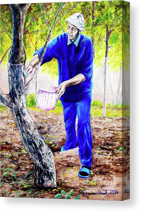 Daddy Canvas Print featuring the painting The Cure - La Cura by Rezzan Erguvan-Onal