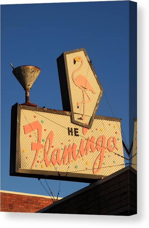 Bar Canvas Print featuring the photograph The Flamingo by Troy Montemayor