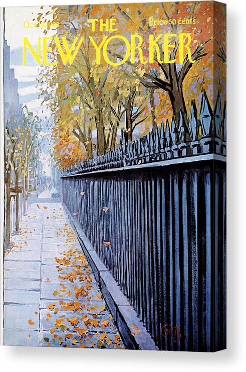 Season Canvas Print featuring the painting Autumn In New York by Arthur Getz