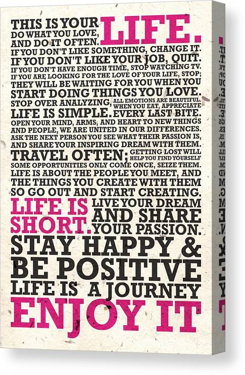 This Is Your Life Do What You Love Inspirational Quotes Poster Simple This Is Your Life Quote Poster