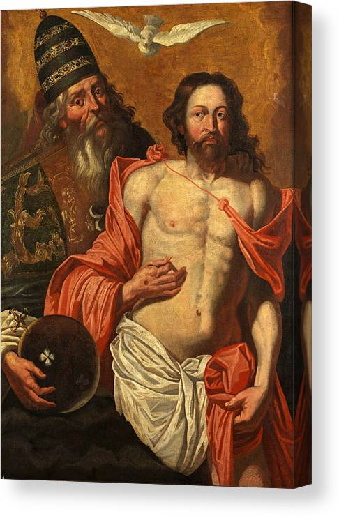 Follower Of Artus Wolffort Canvas Print featuring the painting Trinity by Follower of Artus Wolffort
