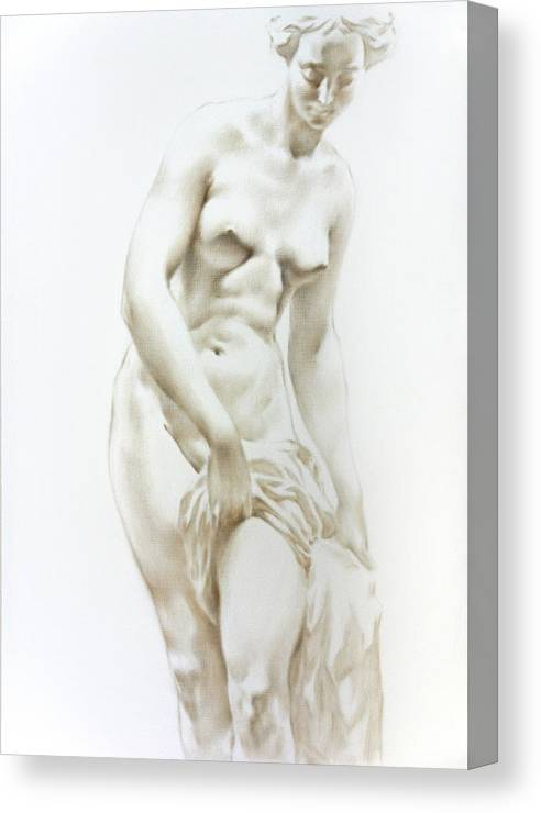 Woman Canvas Print featuring the painting Venus 1a by Valeriy Mavlo