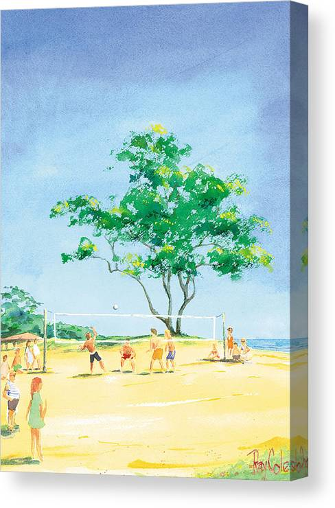 Volleyball Canvas Print featuring the painting Volleyball Anyone by Ray Cole