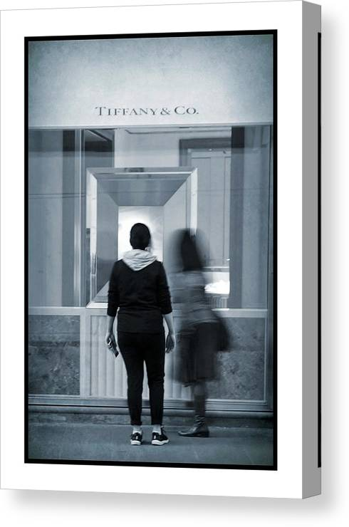 Tiffany Canvas Print featuring the photograph Window Shopping by Patricia Strand