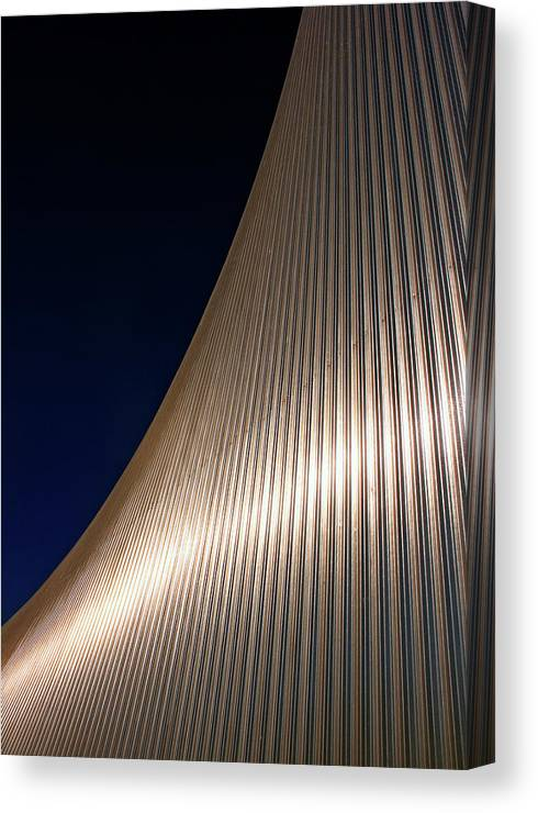 Curve Canvas Print featuring the photograph Curved Cladding by Kevin Button
