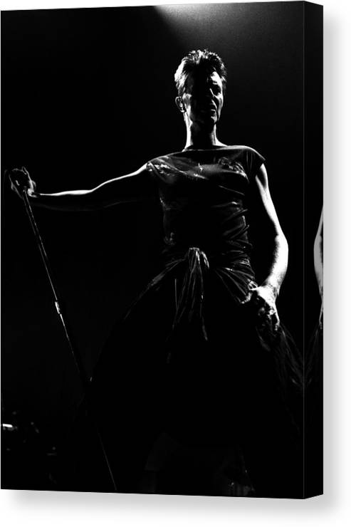 Music Canvas Print featuring the photograph David Bowie by Paul Bergen