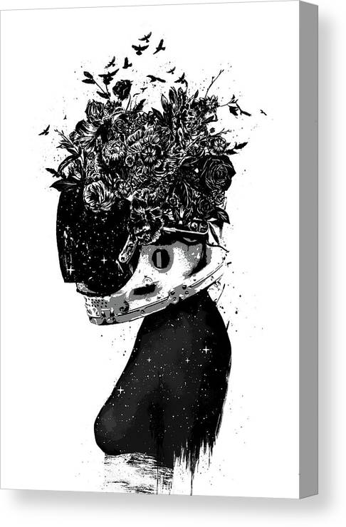 Girl Canvas Print featuring the mixed media Hybrid Girl by Balazs Solti