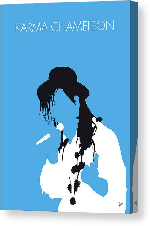 Karma Canvas Print featuring the digital art No269 My Culture Club Minimal Music Poster by Chungkong Art