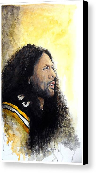 Steelers Canvas Print featuring the painting Steeler Pride by William Walts