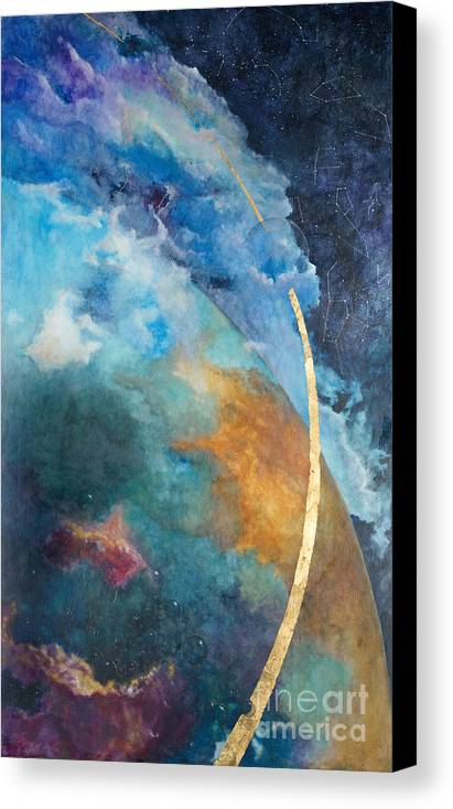 Sky Canvas Print featuring the painting Constellations by Cheryl Myrbo