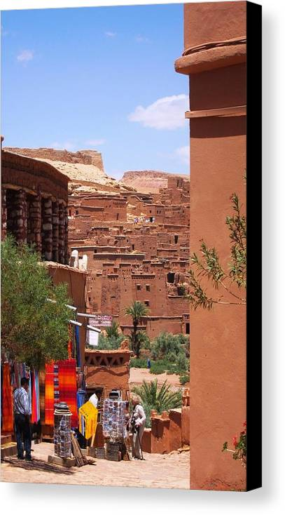 Morocco Canvas Print featuring the photograph Life At Ait Ben Haddou 2 by Teresa Ruiz