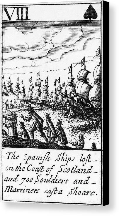 1588 Canvas Print featuring the photograph Spanish Armada, 1588 by Granger