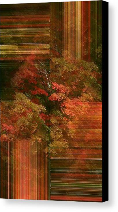 Canvas Print featuring the photograph Autumn Illusion by Barbara S Nickerson