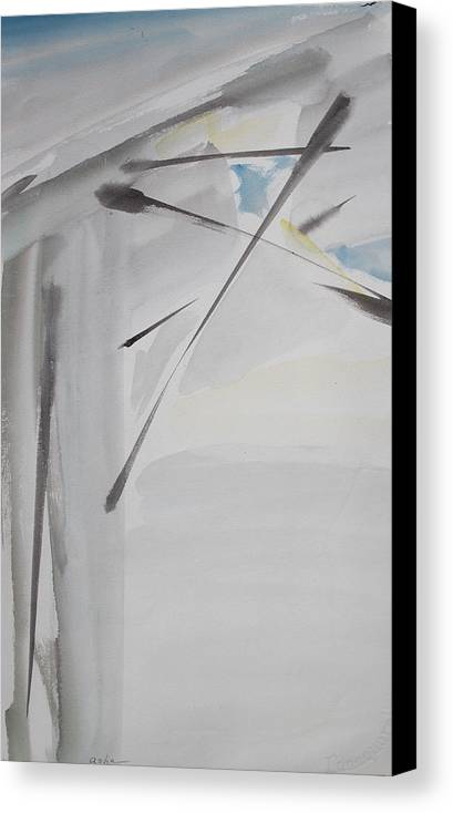 Abstract Painting Canvas Print featuring the painting Studio Ceiling by Asha Carolyn Young