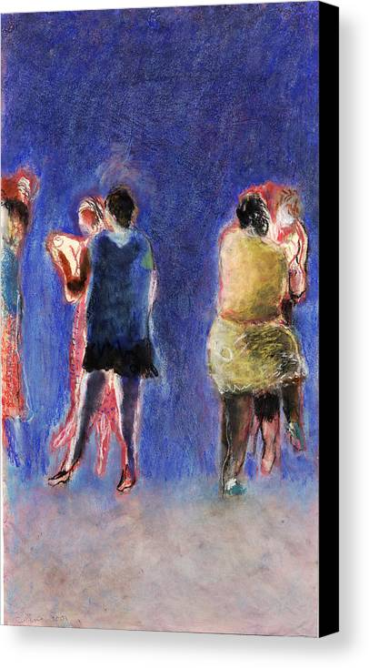 Dancer Canvas Print featuring the painting Dancers by Bill Collins