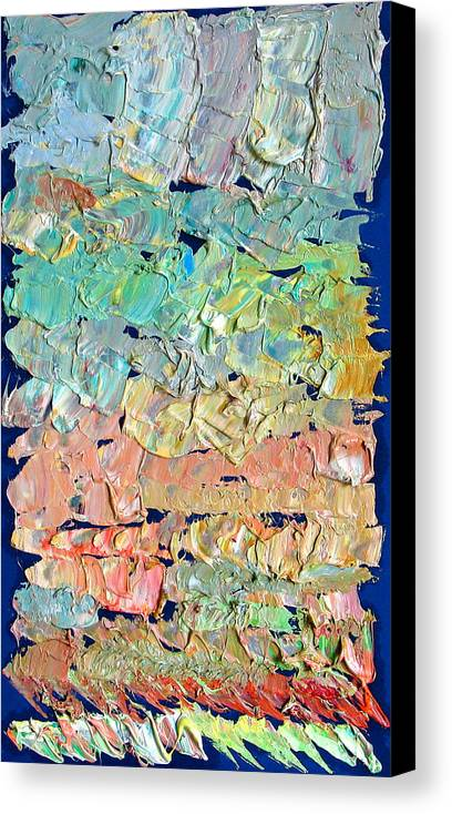 Abstract Canvas Print featuring the painting Clouds. Colorful Painter Palette. Exhausted Paint And Abstract Painting. by Vitali Komarov