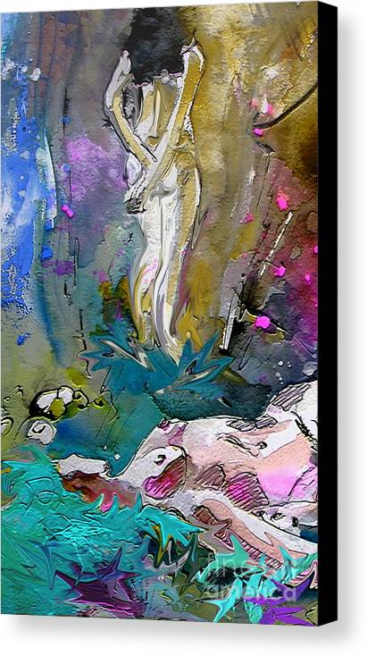 Miki Canvas Print featuring the painting Eroscape 1104 by Miki De Goodaboom