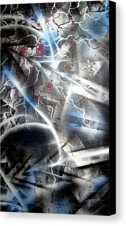 Contemporay Canvas Print featuring the painting Rebirth2 by Leigh Odom