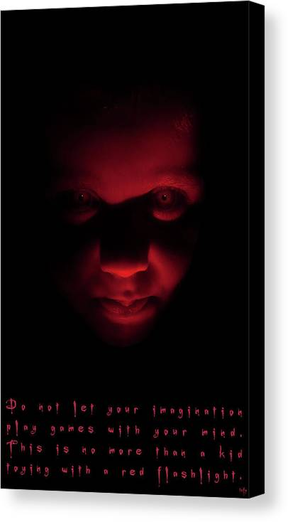 Fear Canvas Print featuring the photograph Red Fear by Weston Westmoreland