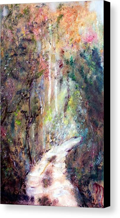 Landscape Canvas Print featuring the painting Sanctuary by Michela Akers