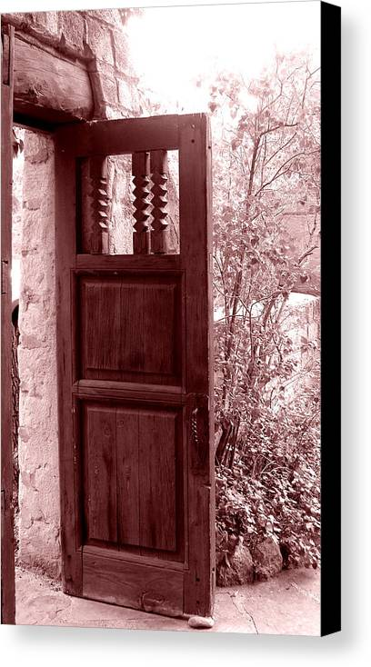 Door Canvas Print featuring the photograph The Door by Wayne Potrafka