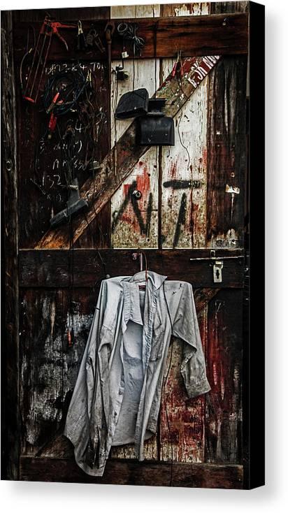 The Garage Door Canvas Print Canvas Art By Julian Regan