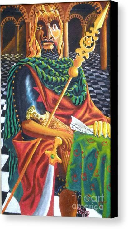Still-life; Interior Canvas Print featuring the painting The Moorish General Othello by David G Wilson