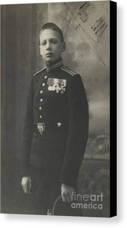 The Prince Of The Blood Igor Konstantinovich Romanov Of Russia Canvas Print featuring the painting The Prince Of The Blood Igor by MotionAge Designs
