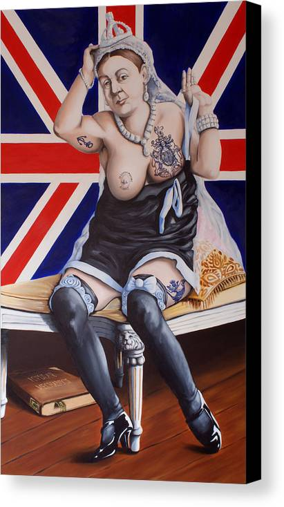 Queen Victoria Canvas Print featuring the painting Victoria by Matthew Lake
