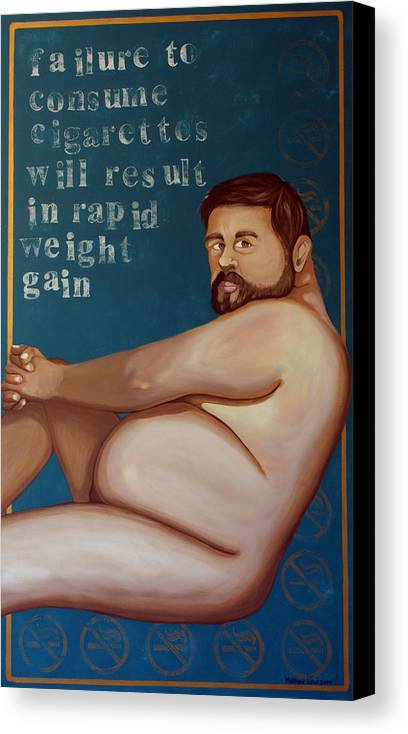 Oil Canvas Print featuring the painting You'll Get Fat by Matthew Lake