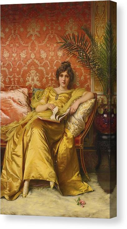 Frederic Soulacroix Canvas Print featuring the painting The Rose by Celestial Images
