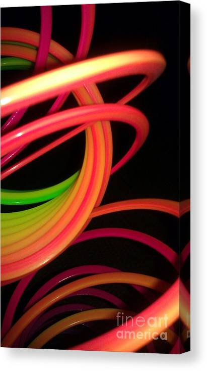 Slinky Canvas Print featuring the photograph Its Fun For A Girl And A Boy by Paulina Roybal