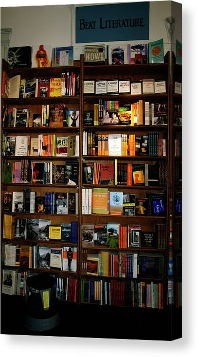 Beat Literature Canvas Print featuring the photograph Beat Literature by Mary Capriole